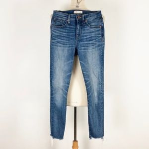 "Madewell 9"" High Rise Skinny Crop Jeans 26"